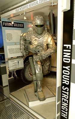 Working prototypes of powered exoskeletons, including XOS[2] by Sarcos, and HULC[3] by Lockheed Martin (both meant for military use), have been constructed but have not yet been deployed in the field. Several companies have also created exosuits for medical use,[4] including the HAL 5 by Cyberdyne Inc.