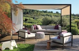Garden Ideas Modern Exterior Furniture Sets Feats With Catchy Outdoor Gazebo And Remarkable Hill Landscape gable end outdoor gazebo combined with antique exterior dining sets on graphic tile flooring ideas