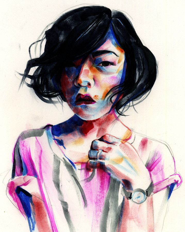 Seattle Artist Tom DesLongchamp Turns Markers And Ink Into Vibrant Portraits