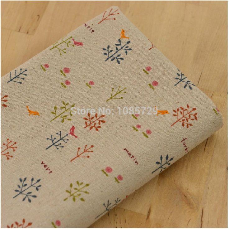 3x( 140cm*50cm)/partij retro stijl katoen linnen stof voor tafelkleed takje grondstof, bank te dekken, deur gordijn- th-6025