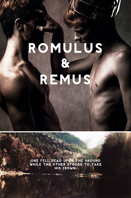 romulus & remus: Twin sons of Mars and Rhea Silvia, they were nursed by a she-wolf as infants and raised by a simple shepherd and his wife. Once they reached adulthood, they helped overthrow the false king of Alba Longa. Rather than press their own claim to the throne, however, they decided to restore the rightful king, and found a new city of their own. A disagreement arose, concerning the location of this new city; the brothers fought and Remus was killed. #myth.