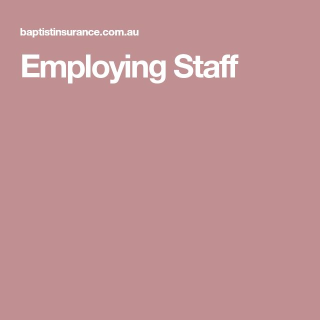 Employing Staff