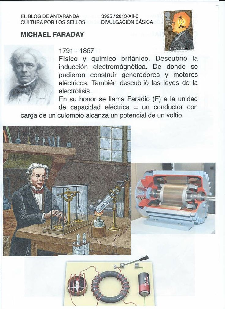 MICHAEL FARADAY - encina 3