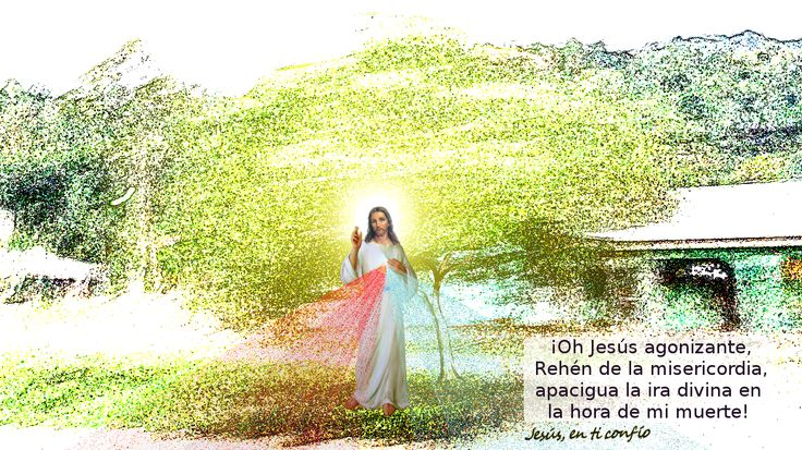 Divina Misericordia : foto con oracion a jesus misericordiosos