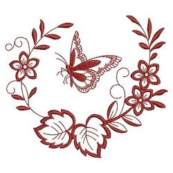 Redwork Floral Butterfly 2 - 3 Sizes! | What's New | Machine Embroidery Designs | SWAKembroidery.com Ace Points Embroidery