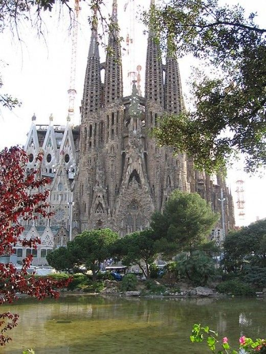 The Nativity facade of La Sagrada Familia.