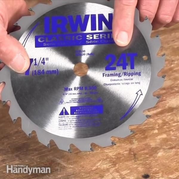 The Family Handyman editor, Jeff Gorton, share some tips on how to choose the best circular saw blade for whatever job you are doing.