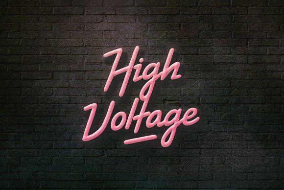 High Voltage Font by BLKBK on @creativemarket