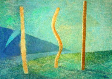 "Saatchi Art Artist Barbara Lis; Painting, ""Talking"" #art"