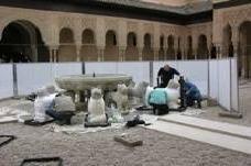Restauración de la Fuente de los Leones. Alhambra de Granada