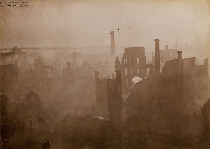 A photograph capturing devastation that was the Toronto fire of 1904