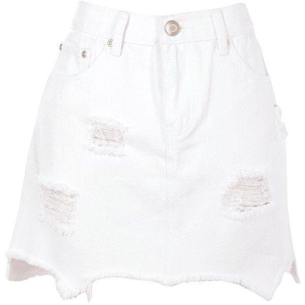 Best 25  White denim skirt ideas only on Pinterest | Denim skirt ...