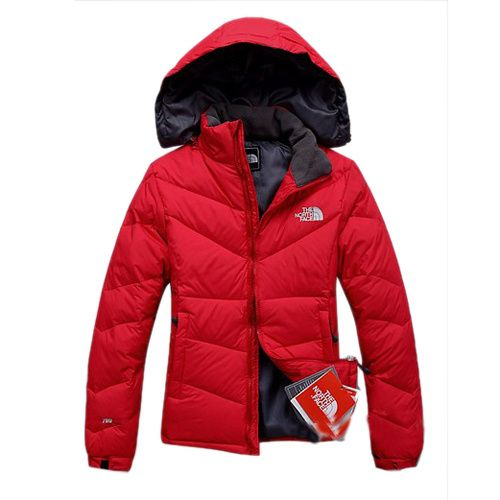 CLEARANCE NORTH FACE VAULT RED DOWN PARKA THERMAL PROTECTION WOMEN