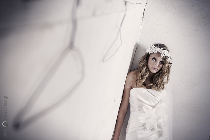 Nymphi - Byze sash with Antheia floral head piece