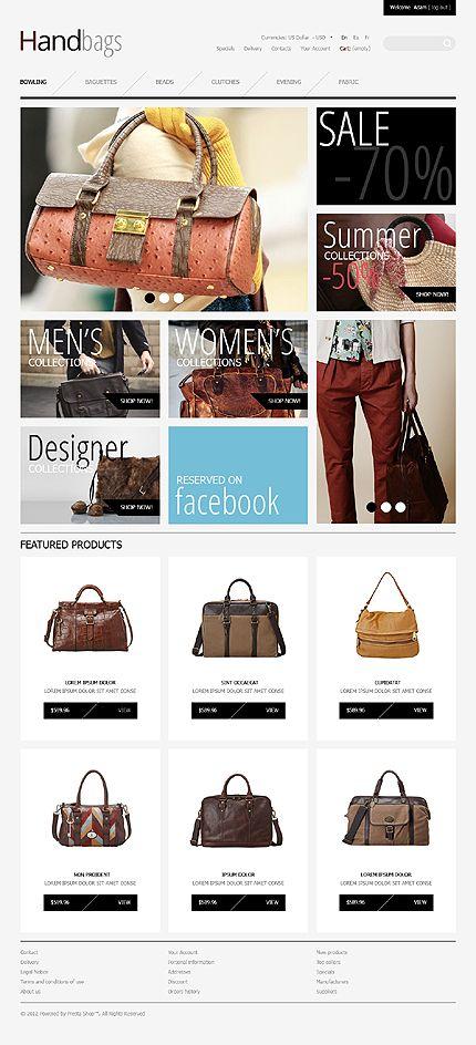 Handbags Boutique PrestaShop Themes by Mercury