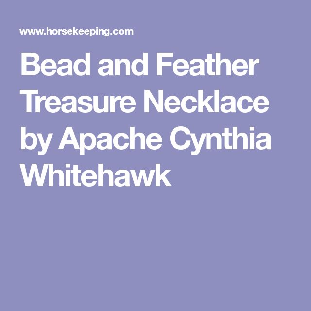 Bead and Feather Treasure Necklace by Apache Cynthia Whitehawk