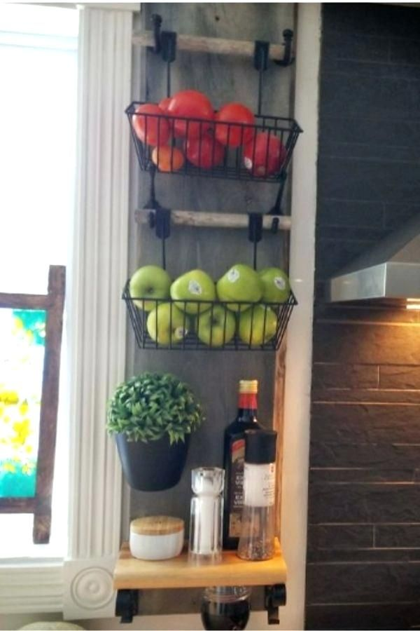 Sample Wall Mounted Fruit Basket Pictures In 2020 Wall Basket Storage Kitchen Wall Storage Kitchen Wall Hangings