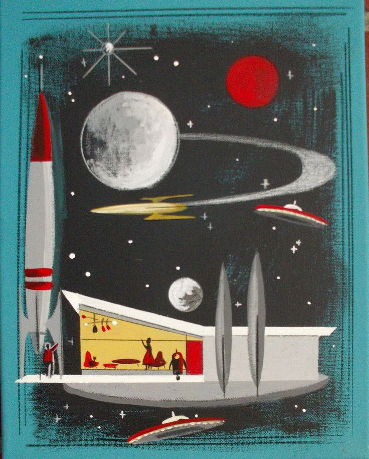 1361 best mid century love images on pinterest black for Retro outer space