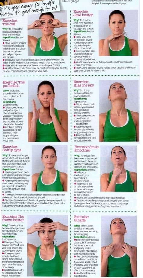 Face Yoga : Yoga Exercises For Slimming Your Face ....... Simple face yoga exercises that reduce the appearance of wrinkles and give you a firmer, younger looking face. .... Kur <3