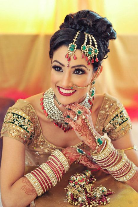 Indian bride.  (Stunning!)