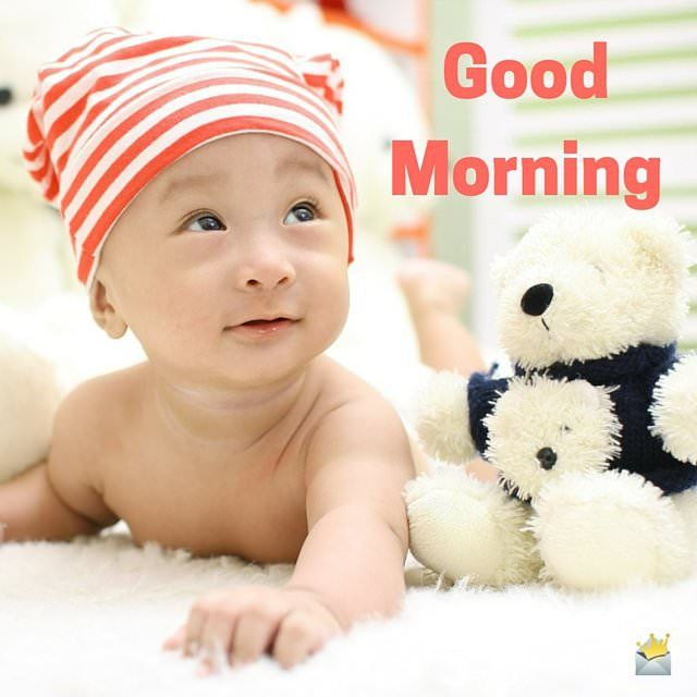 Cute Good Morning Image with baby