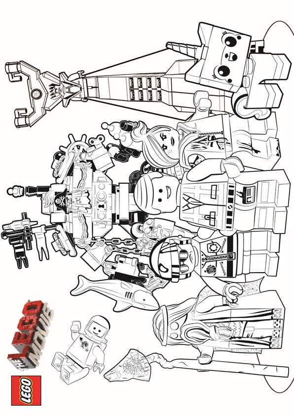 Come Check Out The Lego Characters Just Print It And Have Fun With This Amazing Movie Coloring Page