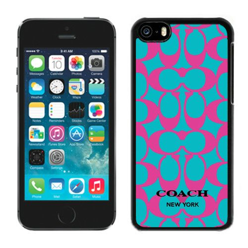 Look Here! Coach Big Logo Fuchsia Blue iPhone 5C Cases DQN Outlet Online