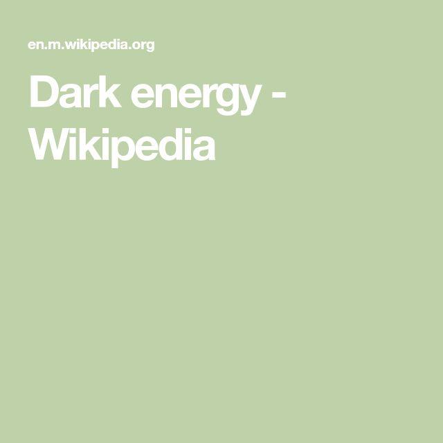 Dark energy - Wikipedia