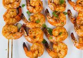 Thai-Curry Marinated Grilled Shrimp