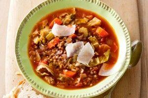 Hearty lentil and vegie soup