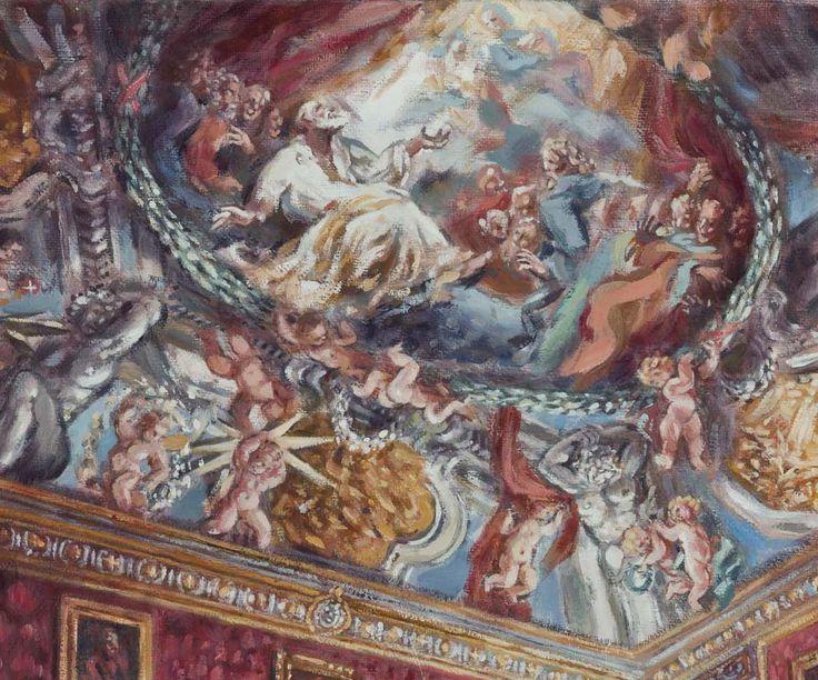 Philippe Casanova; Santa Maria in Vallicella; Stanze di San Filippo Neri; la Stanza Rossa; oil on canva; 2016