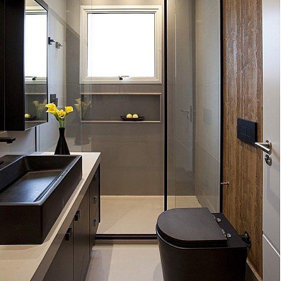 Black #bathroom
