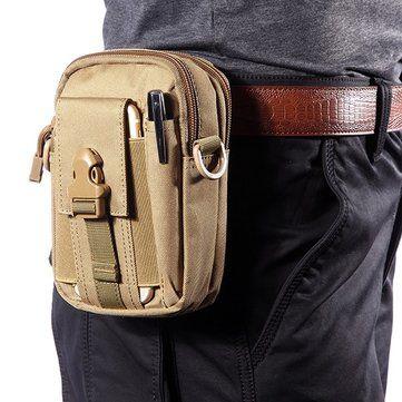 6inches Cellphone Men Nylon Crossbody Bag Tool Tactical Waist Bag - US$11.52