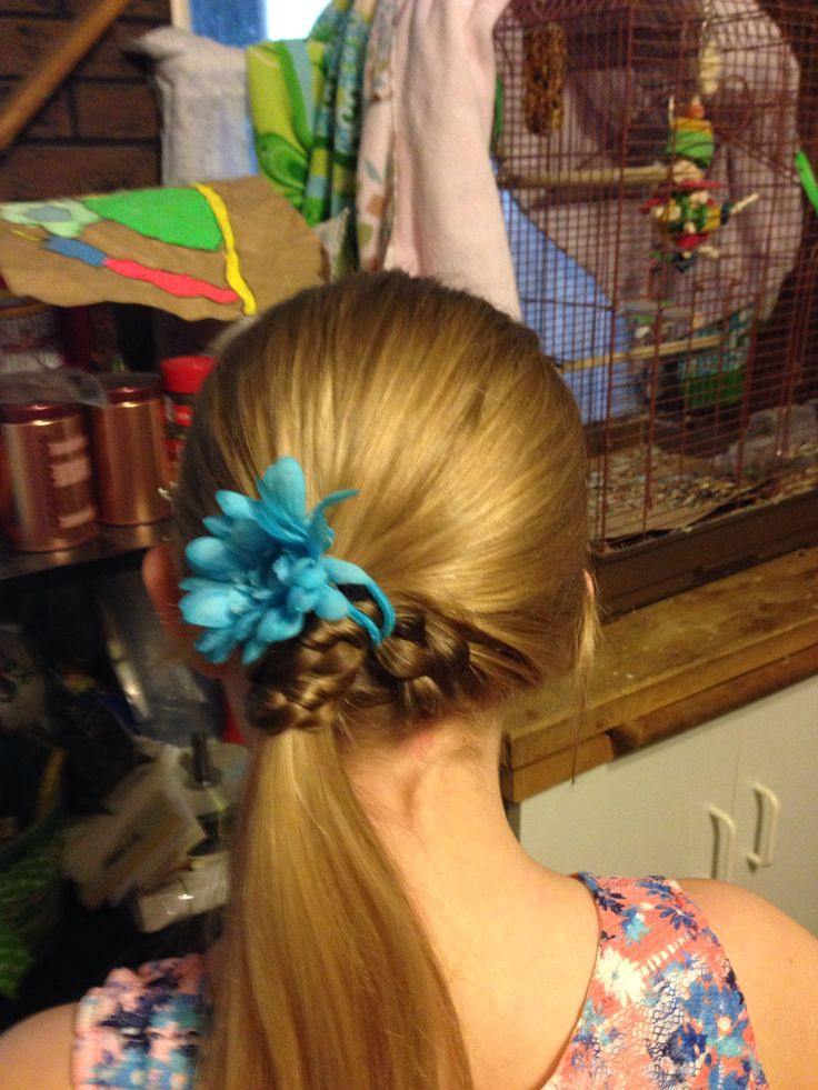 Success. Paige's hair for her school dance.