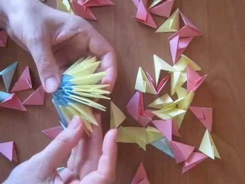 How to make a modular origami (3d) egg