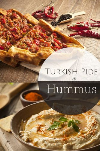 Turkish Pide Recipe w Homemade Hummus - This is a must make recipe! #recipe #YUM