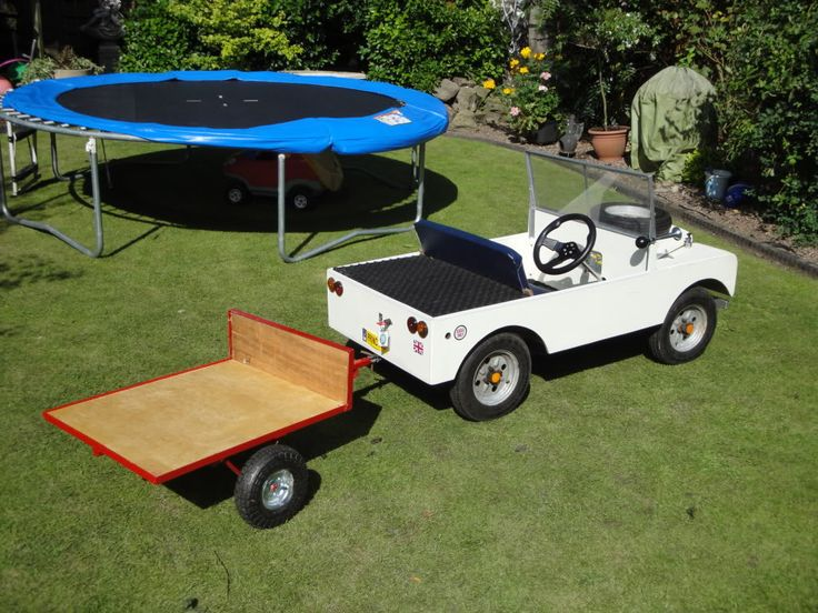 Electric Series 1 Landrover and Trailer