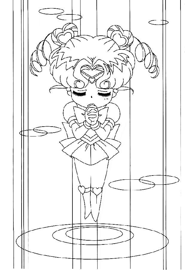 chibi moon coloring pages - photo#16