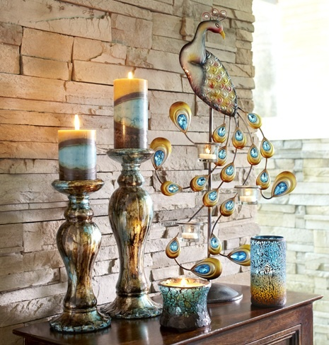 1000 ideas about peacock color scheme on pinterest for Picture frame candle centerpiece