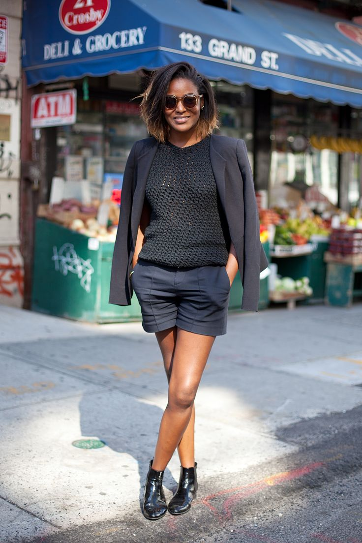 Effortlessly chic wearing all black in New York.