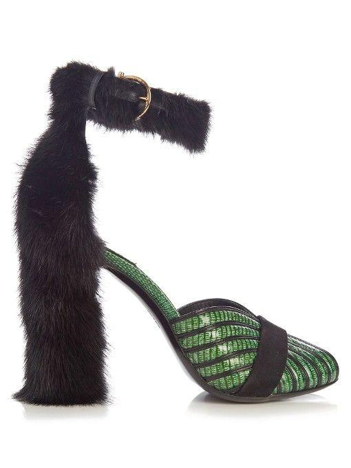 Salvatore Ferragamo Fata reptile-effect leather sandals