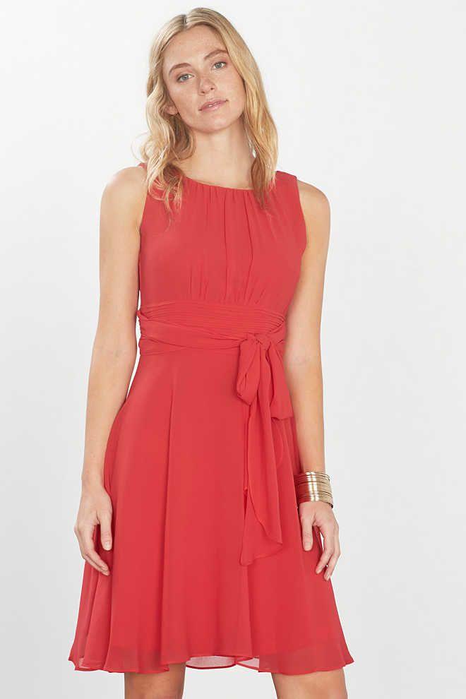 Esprit / Feminiene jurk van fijn chiffon