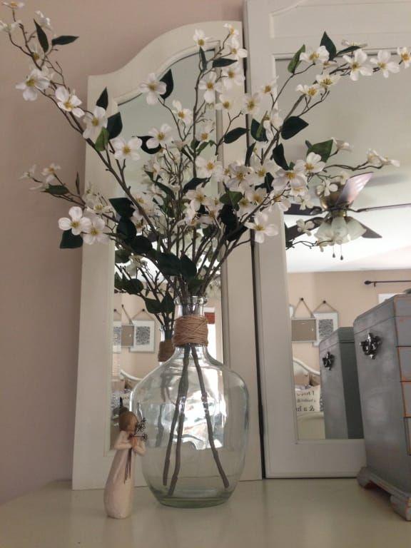 Long Neck Clear Glass Vase Floor Vase Decor Large Vases Decor