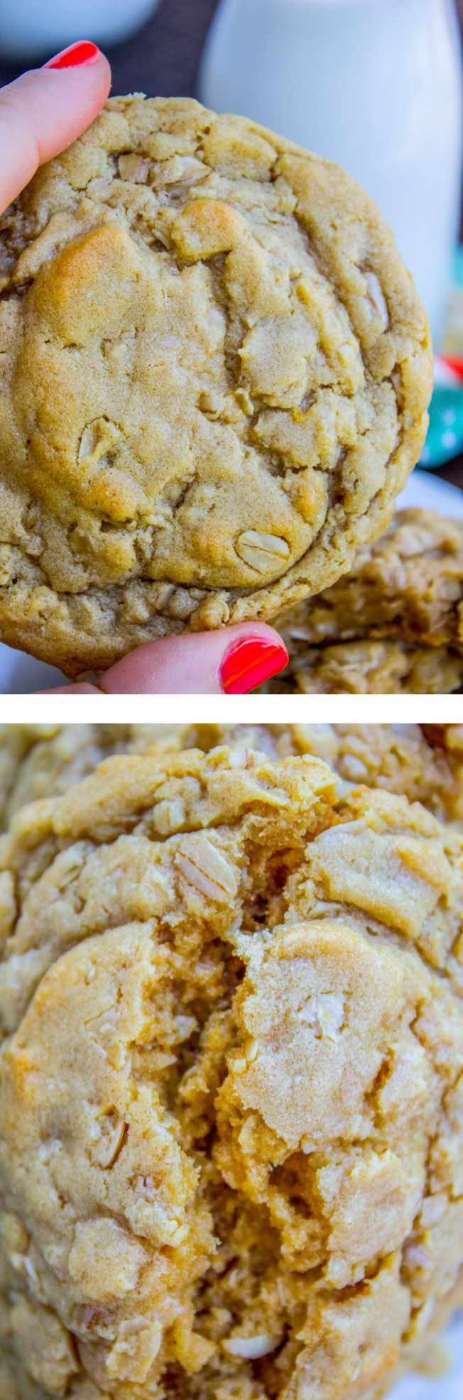 Peanut Butter Oatmeal Cookies from The Food Charlatan. These cookies will blow your mind! Tons of peanut butter flavor (actual peanuts optional) paired with some chewy oats for an amazing texture. They are so tender and totally melt in your mouth!