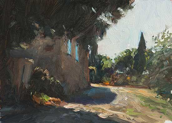 Track past les Pousse Chiens by Julian Merrow-Smith. 9-28-16
