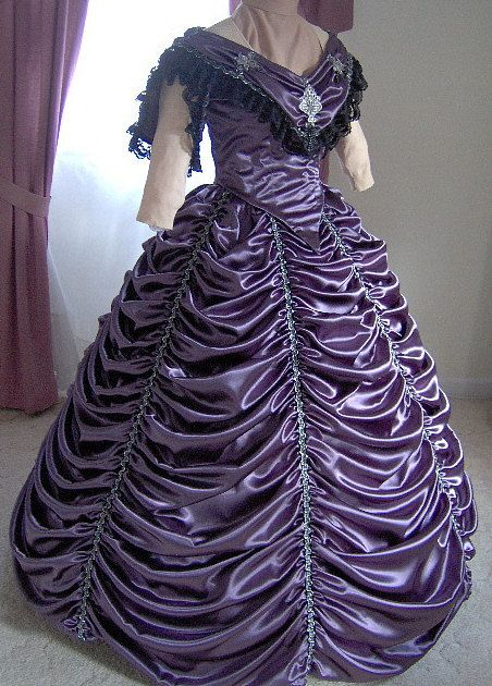 1800s Victorian Dance Dress  by MissLisa1867, on Etsy | This is perfect. A talented seamstress made this!