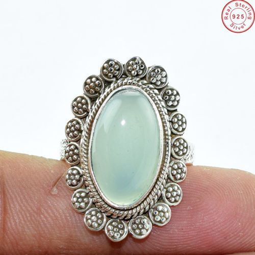 An ‪#‎exquisite‬ 925 Sterling Silver ‪#‎Aqua‬ ‪#‎Chalcedony‬ Gemstone ‪#‎Ring‬ Jewellery US S 8.5 A ‪#‎Perfect‬ ‪#‎Gift‬ for Your Loved One Find out more at http://bit.ly/1VaGX40