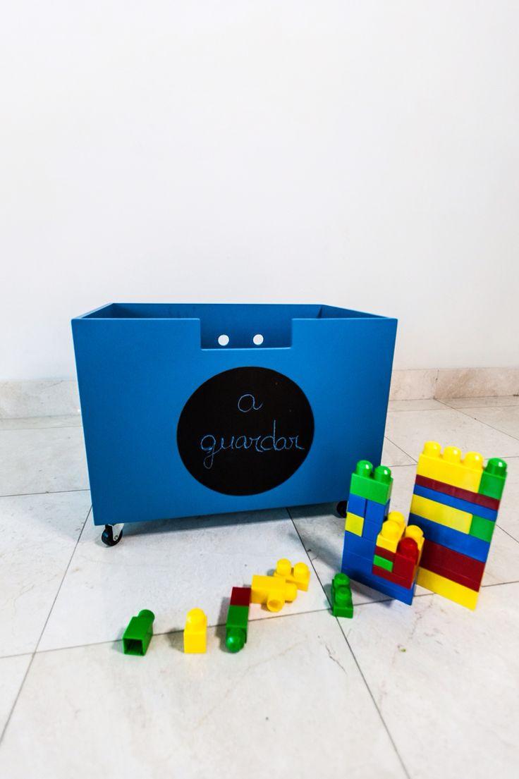 Caj n para guardas juguetes con ruedas frenos y pizarra - Cajon para juguetes ...