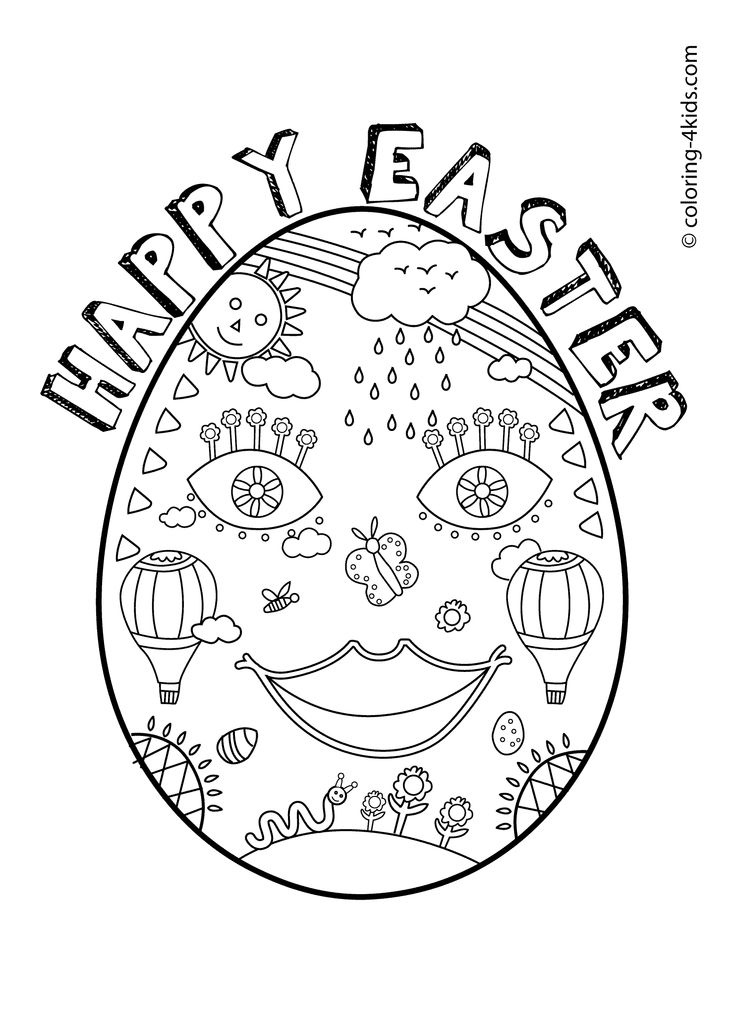 Easter Colouring Pages For Kindergarten : 23 best easter coloring pages images on pinterest