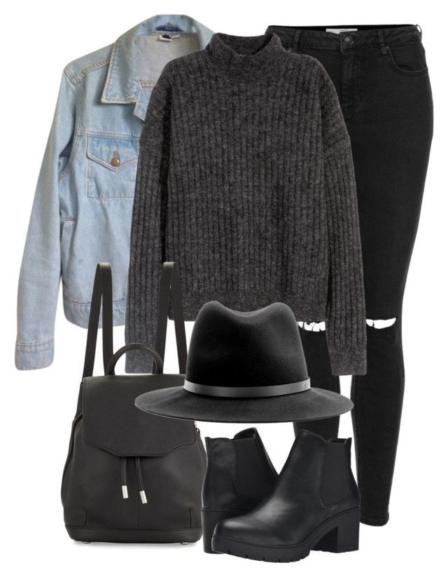 """Untitled #2161"" by rosyfilm ❤ liked on Polyvore featuring Topshop, American Apparel, H&M, rag & bone and Steve Madden"